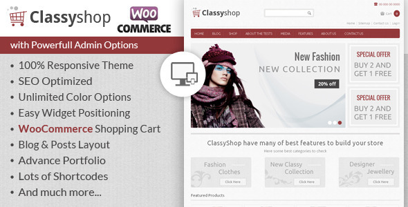 ClassyShop - WooCommerce Responsive Theme  TForest