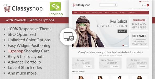 ClassyShop - WordPress Jigoshop Theme  TForest