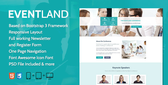 EventLand Landingpage  TForestLandingPages