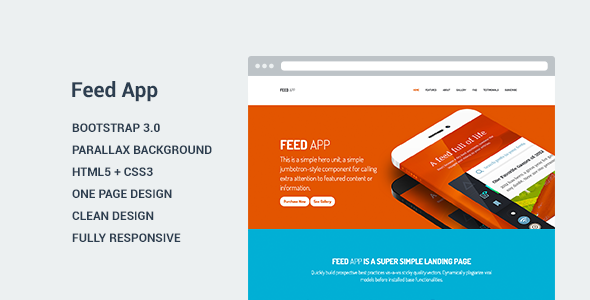 FeedApp - Landing Page Template  TForest