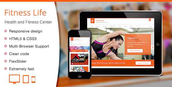Fitness Life - Gym/Fitness HTML Template  TForest