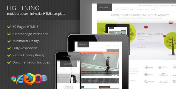Lightning - Multipurpose Minimalist HTML Template  TForest