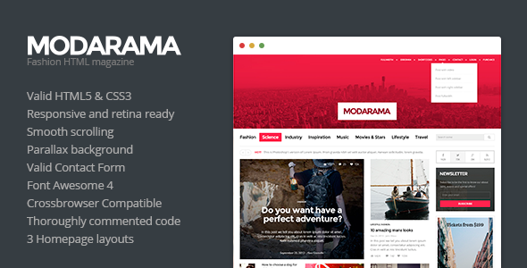 Modarama - Magazine HTML5 Template  TForest