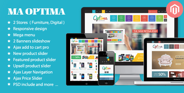 Optima - Responsive Magento Theme  TForest