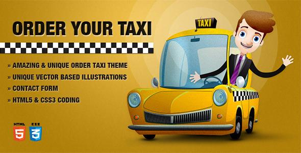Order Taxi Theme  TForestSiteTemplates