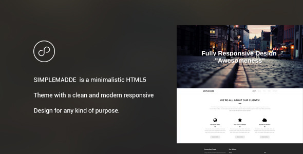 SIMPLEMADE - Minimalistic Landing Page  TForest
