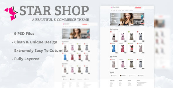 Star Shop eCommerce HTML Template  TForest