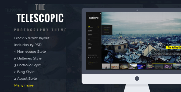 Telescopic - Fullscreen Photography PSD Template  TForest