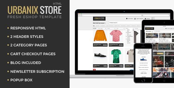 Urbanix - HTML Store Shop Template  TForest