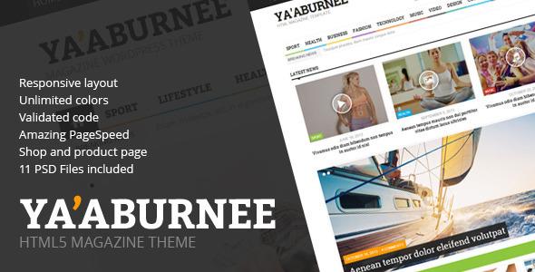 Ya'aburnee - Magazine & E-Commerce HTML5 Template  TForest