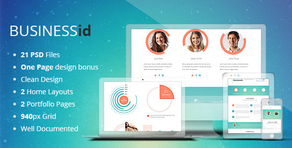 BUSINESSid - Multipurpose Business PSD Template  TForest