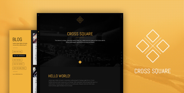 CrossSquare - One Page Bootstrap PSD Template  TForest