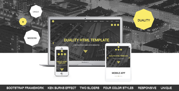 Duality - Portfolio and Apps HTML5 Template  TForest