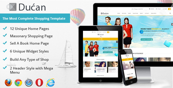 Ducan Premium Online Store, HTML Shopping Template  TForest