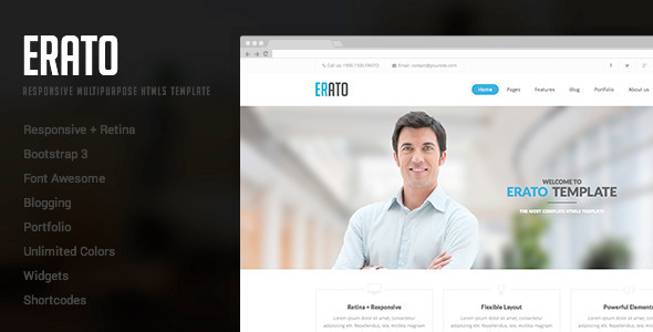 Erato - Responsive Multipurpose HTML5 Template  TForest