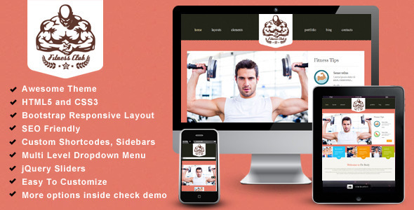 Fitness Club- Bootstrap Responsive Theme  TForest