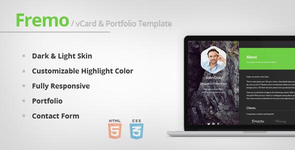 Fremo - Responsive vCard & Portfolio Template  TForest