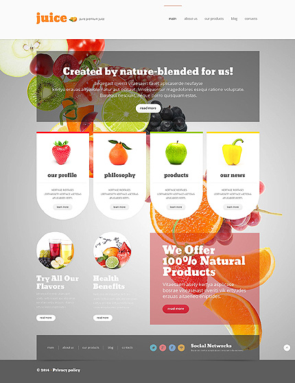 Grey & White Food & Drink Joomla Theme by Delta TMT