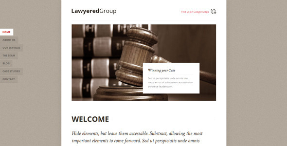 Lawyered Group - Responsive Retina HTML5 One-Page  TForest