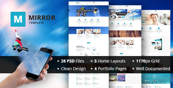 MIRROR - Multipurpose Business PSD Template  TForest