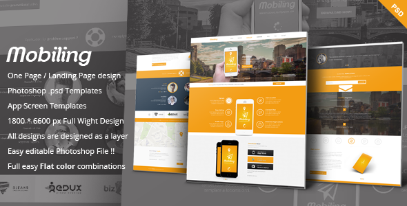 Mobiling - One Page App Landing Page  TForest