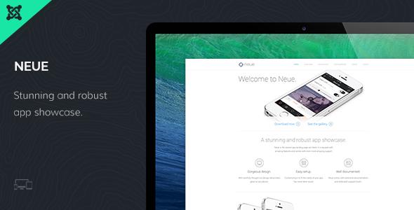 Neue App Landing Page Joomla Template  TForest