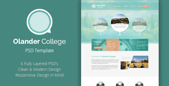 Olander - College PSD Template  TForest