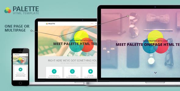 PALETTE - Bootstrap Parallax HTML Template  TForest