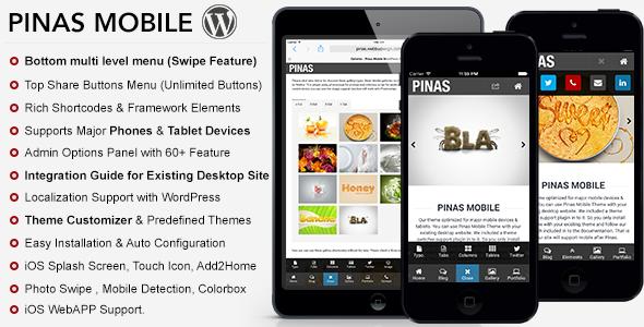 Pinas Premium Mobile Theme  TForestWordPress