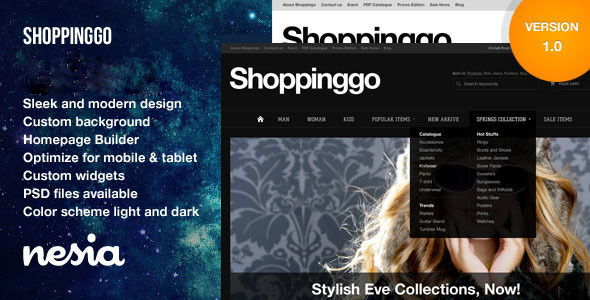 Shoppinggo - Clean Online Store Template  TForest