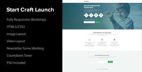 Start Craft Launch Page  TForestSiteTemplates