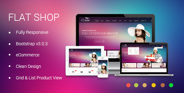 The New Flat Shop - HTML Template  TForest