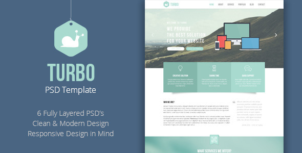 Turbo - Business PSD Template  TForest