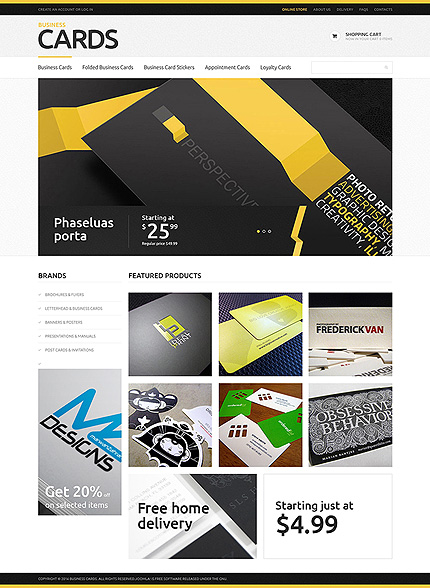 White & Black Bank VirtueMart Template by Cowboy VirtueMart Templates TMT
