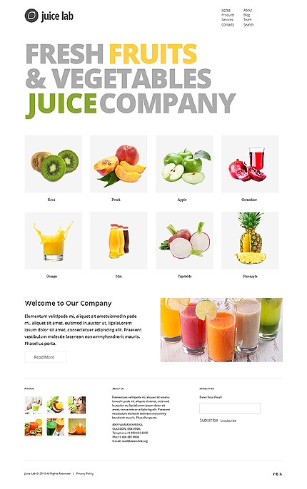 White Food & Drink Joomla Theme by Irene TMT