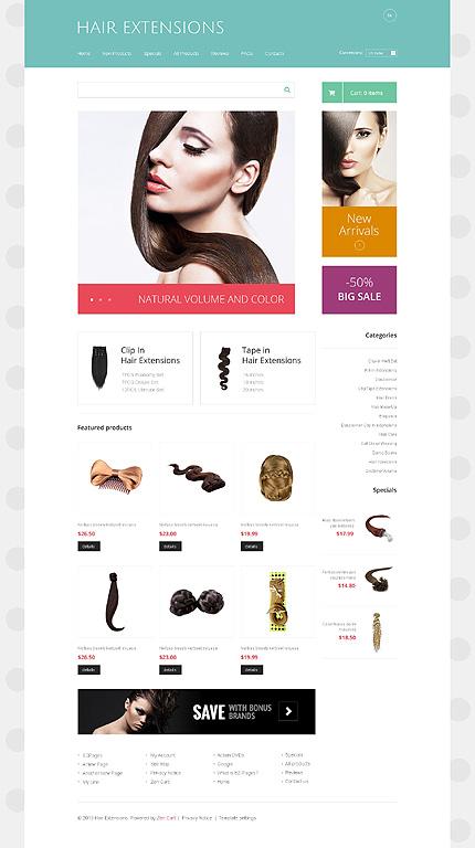 White Hair Salon Zen Cart Template by Delta TMT