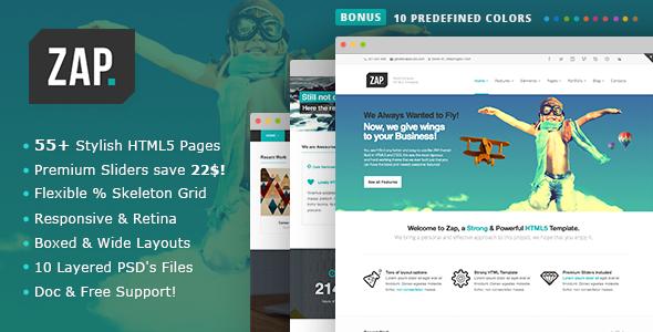 ZAP - Responsive Multi-Purpose HTML5 Template  TForest