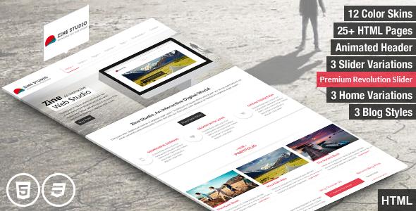 Zine- Responsive Parallax Business HTML5 Template  TForest