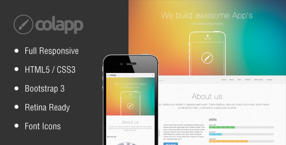 colapp - one page HTML template  TForest