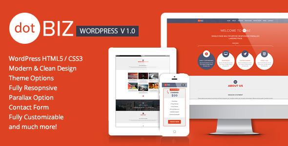 dotBIZ - WordPress Responsive OnePage Parallax   TForest