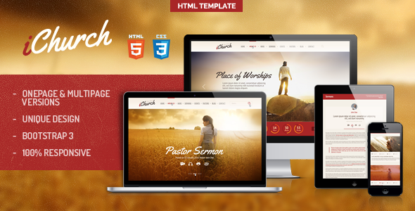 iChurch - Onepage & Multipage Church Template  TForest