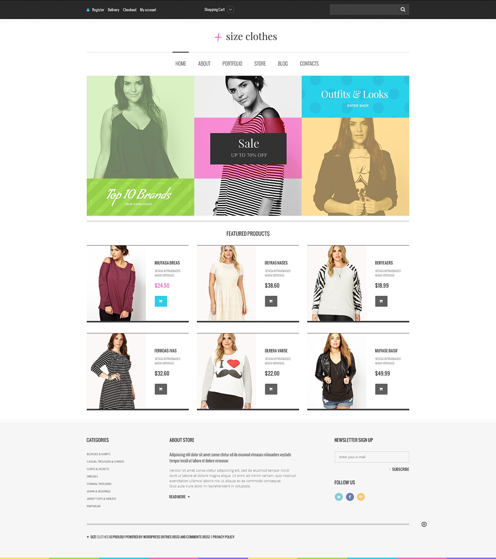 Apparel Responsive Jigoshop Theme TMT