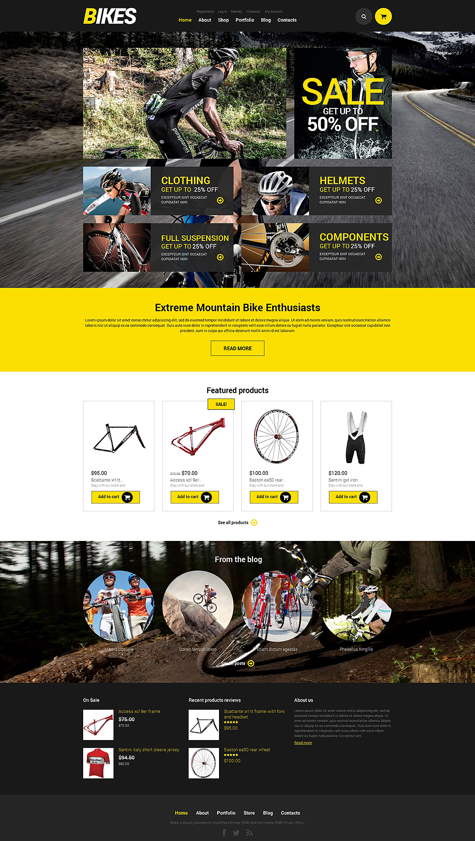 Cycling Responsive Jigoshop Theme TMT