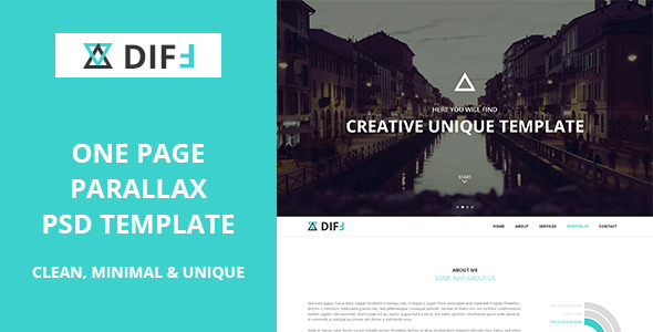 DIFF - Creative Onepage PSD Template  TForest