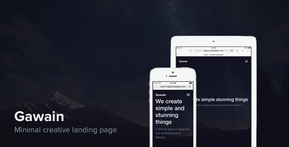 Gawain – minimal creative landing page  TForest