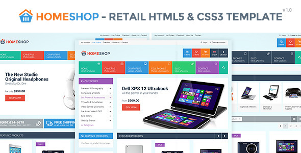 Home Shop - Retail HTML5 & CSS3 Template  TForest