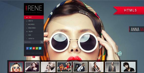 Irene - Model Agency Website Template  TForest
