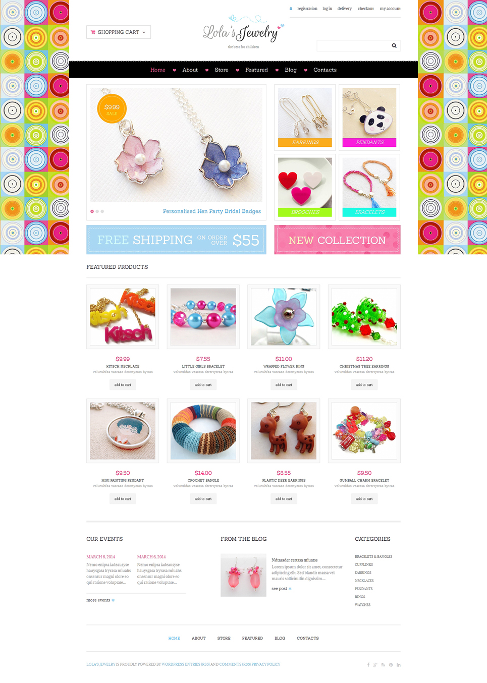 Jewelry Responsive Jigoshop Theme TMT