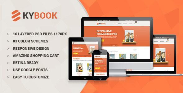 KyBook - Responsive eCommerce PSD Template  TForest