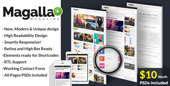 Magalla Magazine, News and Blog HTML Template  TForest